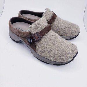 Merrell Encore Groove Wool Brindle Mule Clogs 7